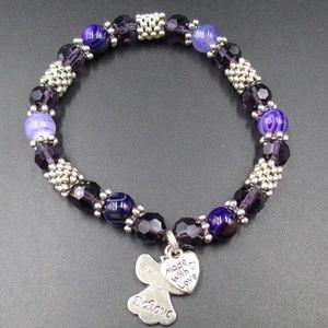 Jewelry - Plastic & Glass Beads Made With Love  Bracelet